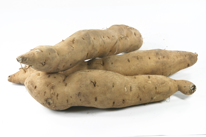 sweet potatoes isolated